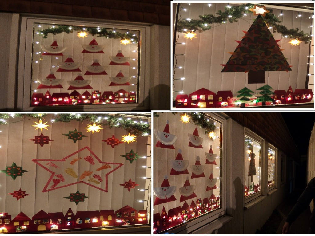 Unsere Adventsfenster. Foto: Arndt