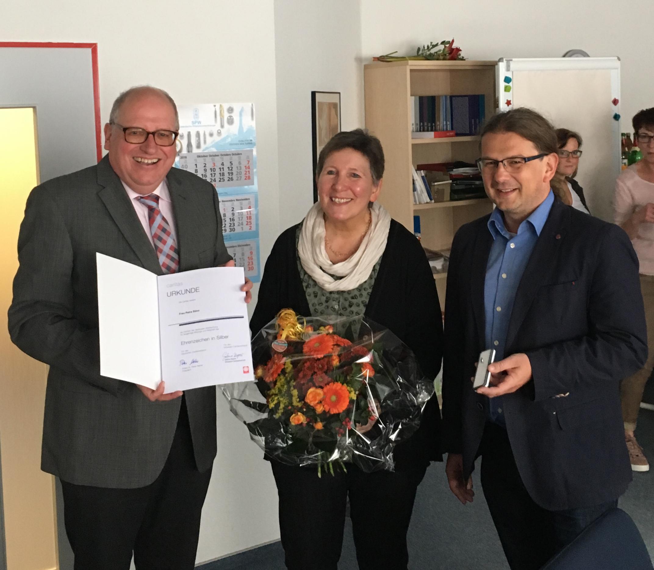 v.l.n.r.: Hans-Werner Wolff, Petra Stinn und Stefan Hesse. Foto: Wolff